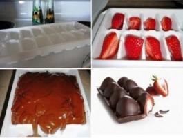 шоколад и ягоди