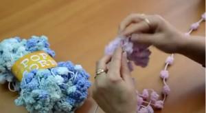 Плетене на шал с прежда ПУКАНКИ